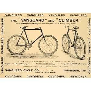 1896 Ad Antique Vanguard Climber Bicycle Bikes
