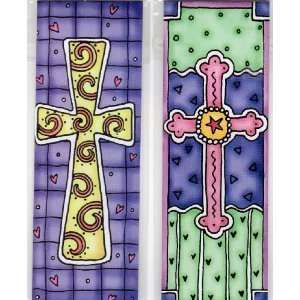Magnetic Bookmarks   2 Crosses   set of 2