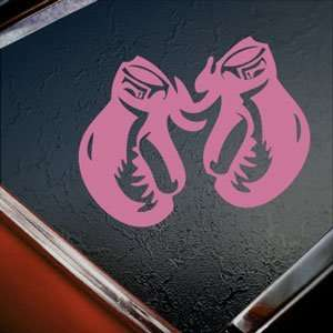 BOXING GLOVES Pink Decal Car Truck Bumper Window Pink