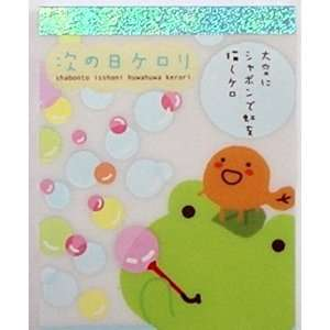 San x Kerori Mini Memo Pad 3 Green Frog Bubble