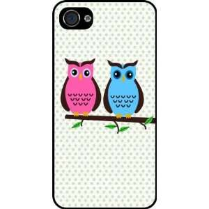 Owl Love You Deco Owl Rubber Black iphone Case (with bumper) Cover