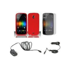 Prime (Verizon) Premium Combo Pack   Red Silicone Soft Skin Case Cover