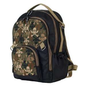 People Pack Backpack, Black with Camo Skulls: Toys & Games