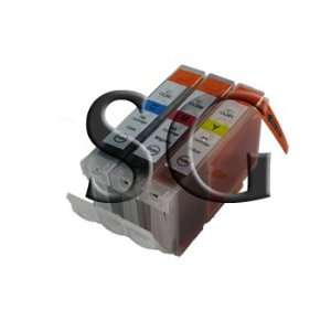 3 Pack. Compatible cartridges for Canon CLI 8. Includes