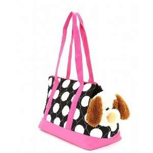 Polkadot Quilted Dog Cat Carrier