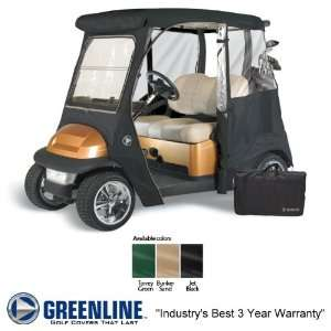 Custom Drivable Golf Cart Enclosure Cover Fits Club Cars   Black Color