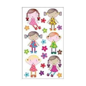 Classic Stickers Cute Dolls; 6 Items/Order: Arts, Crafts & Sewing