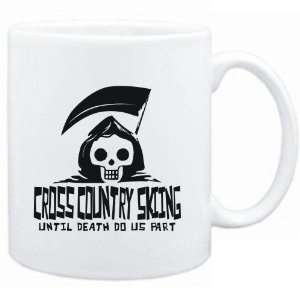 Mug White  Cross Country Skiing UNTIL DEATH SEPARATE US