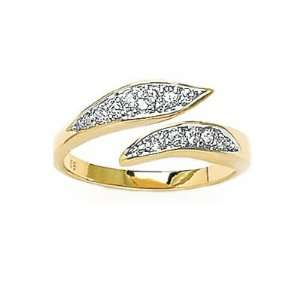Ladies 18K Gold Plated Clear Cubic Zirconia Snake Ring