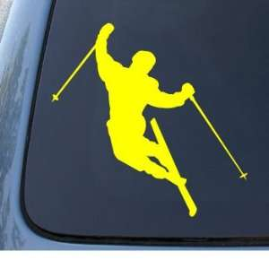 SKIER   Downhill Skiing   Vinyl Car Decal Sticker #1331  Vinyl Color