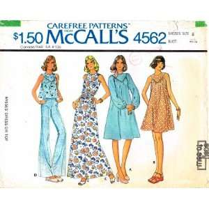 McCalls 4562 Sewing Pattern Dress Top Size 8 Bust 31 1/2