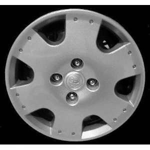 00 02 TOYOTA ECHO WHEEL COVER HUBCAP HUB CAP 14 INCH, 6 SPOKE BRIGHT