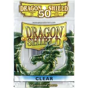 Dragon Shield Standard Deck Sleeves Clear 50 Count: Toys