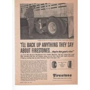Firestone Farm Tractor Tire Livestock Truck 1959 Vintage