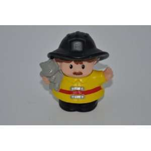 Fisher Price Fire Man Little People Firefighter Doll Toy Fireman