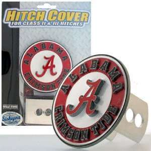 Alabama Crimson Tide Logo Only Trailer Hitch Cover: Sports