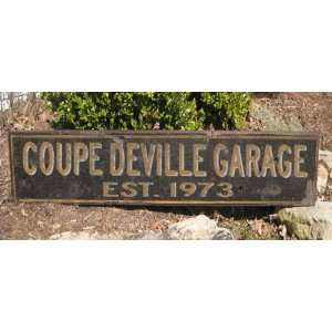 1973 73 CADILLAC COUPE DEVILLE GARAGE   Rustic Hand