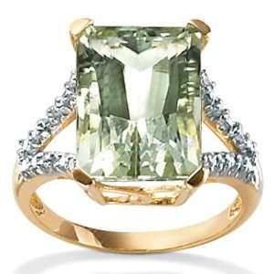 PalmBeach Jewelry Green Amethyst 10k Gold Ring Jewelry