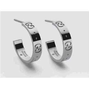 GUCCI BEAUTIFUL & ELEGANT GUCCI style earrings Sterling Silver plated