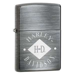 Zippo   Silver Sunrise, Harley Davidson Diamond