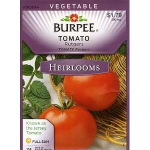 Burpee 50618 Heirloom Tomato Rutgers Seed Packet Patio