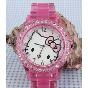 Hello Kitty Link Bracelet Watch Yk49 pka Quartz and a Hello Kitty