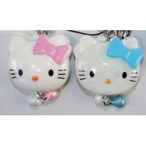 Hello Kitty Straps, Charms, Keychains, Acrylic, a Set of 2