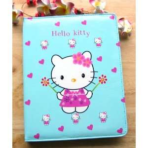 Hello Kitty With Heart Blue Style Leather Case Bag For