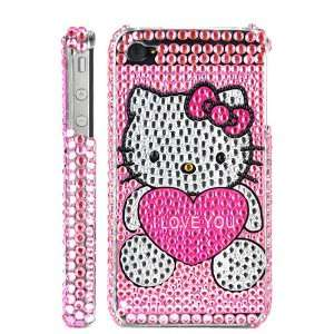 Hello Kitty & Love Hard Back Cover Case For iPhone 4 and