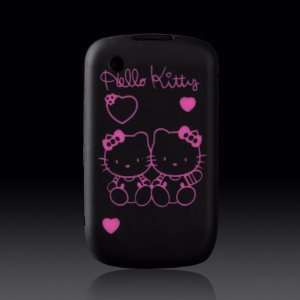 Hello Kitty Pink Hearts on Black Flexa silicone case