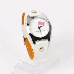 Hello Kitty Girls Round Watch Wristwatch White Toys