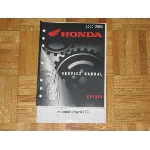 2000 2001 2002 2003 Honda CR125R CR125 R CR 125 R Service Manual Paper