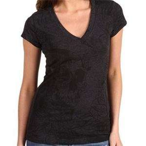 Metal Mulisha Womens Eloquence T Shirt   X Small/Charcoal