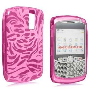 Hot Pink Candy Case Hard Silicone Gel Skin with Zebra Design Cover