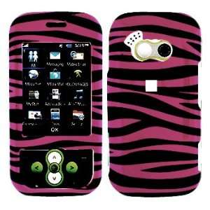 Hot Pink with Black Zebra Pattern Hard Skin Cover Case for