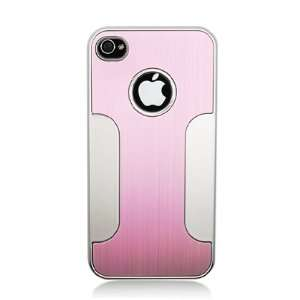 Aluminum Hot Pink/ Silver Hard Protector Back Cover Case