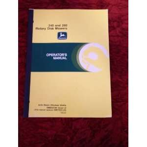 : John Deere 240/260 Disk Mower OEM OEM Owners Manual OME82780: John
