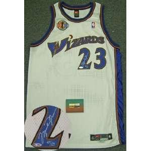 Michael Jordan Signed Wizards Career Tribute Jersey LE123 UDA