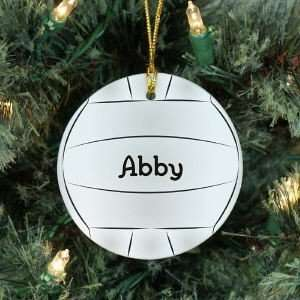 Personalized Volleyball Ornament Christmas Ornament