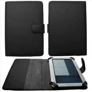 Premium Black Leather Padfolio Case with Magnetic Closure