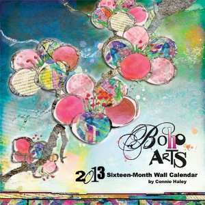 Boho Arts by Connie Haley 2013 Linen Wall Calendar Office Products