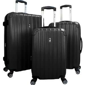 Concepts Vector Hardside 3 Piece Luggage Set in Black