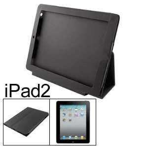 Black Faux Leather Stand Holder Pouch for Apple iPad 2 Electronics