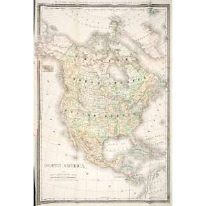 1890 Print Map North America United States Dominion Canada Mexico