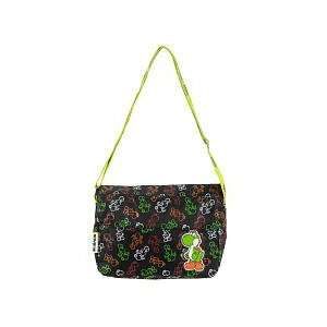 Mario Small Black Yoshi Messenger bag/purse 11.5x9x4 Toys & Games