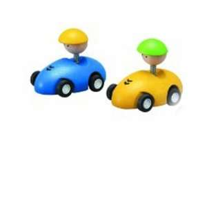PLAN Toys Mechanical Pull back Racing Cars (Two Cars