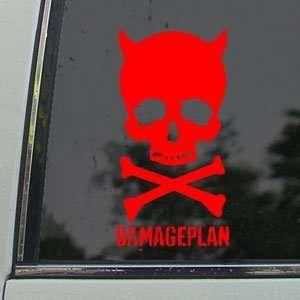Damageplan Red Decal Metal Rock Band Truck Window Red