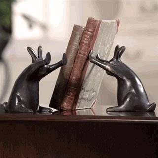Falling Bookend Metal Bookend 1 Pcs Black:  Home & Kitchen