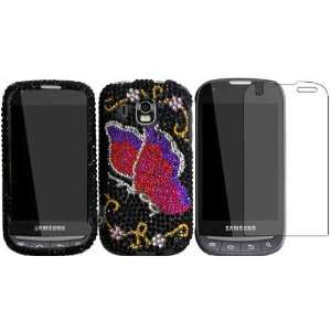 Pink Butterfly Full Diamond Bling Case Cover+LCD Screen