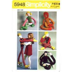 Sewing Pattern Dance Partner Toys Dolls Monkey Arts, Crafts & Sewing